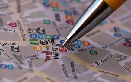地図で土地の価格を確認する