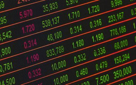 株式市場の値動き