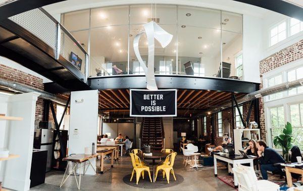 倉庫を改装したオフィス