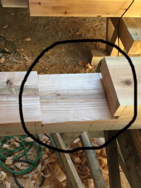 継手加工された木材