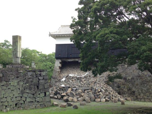 熊本城の石垣崩壊その一