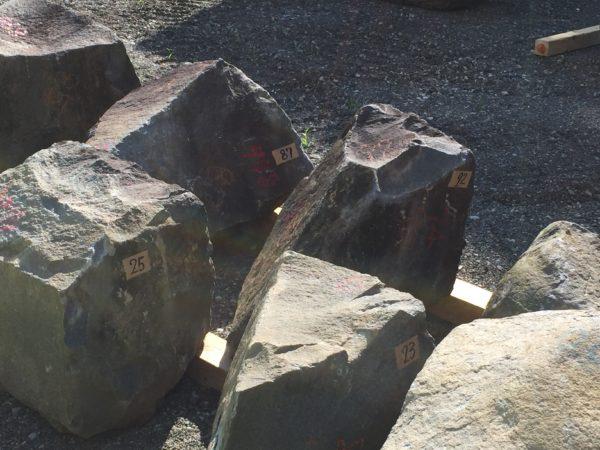 ナンバリングされた石材その一