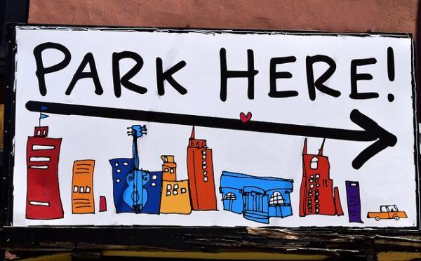 駐車場の標識